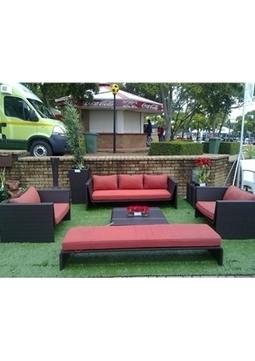 Modern Tosh Furniture Outdoor Patio Dark Brown Sofa Set   Poundex Furniture -  Offices and homes   Scoop.it