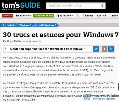 Le site du jour : 30 trucs et astuces pour Windows 7   Logiciels gratuits   Scoop.it