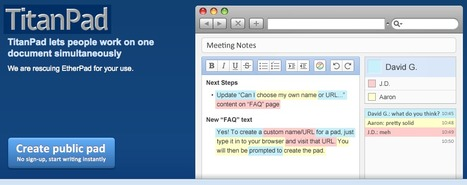 TitanPad: lets people work on one document simultaneously | The Educational Toolbox | Scoop.it