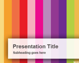 Vertical Colorful Bars PowerPoint Template | Free Powerpoint Templates | managing food production | Scoop.it