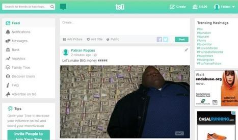 Tsu : le réseau social qui paye ses utilisateurs   Time to Learn   Scoop.it