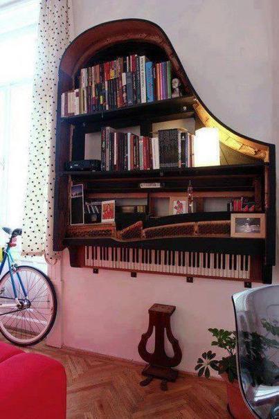 Twitter / IntThings: Old piano repurposed into a ... | Musiikin opiskelu | Scoop.it