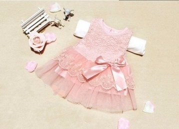 Soothing Peach Net Toddler Dress with Ribbon Bow | Online Baby Accessories | Scoop.it