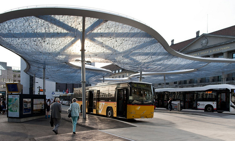 vehovar & jauslin and formTL inflate aarau bus station canopy - designboom | architecture & design magazine | SOFT Architectures | Scoop.it