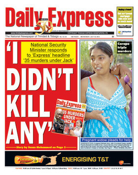 Express - Front Page - Wed 18th July 2012   Trininews   Scoop.it