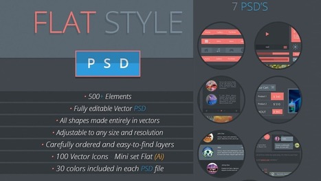 36 High-Quality Flat Design Resources | pdxtech-info | Scoop.it