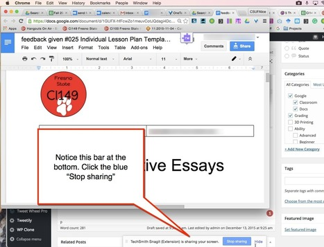 Google Docs: Use Snagit to Leave Audio/Visual Feedback | Campus numériques | Scoop.it