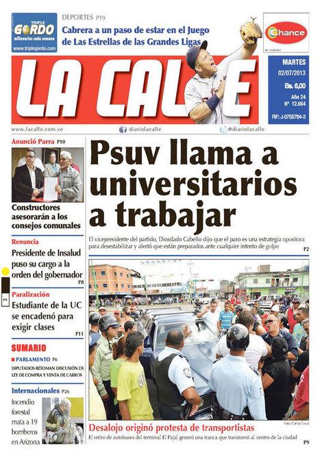 Estos son los titulares más importantes en portadas de periódicos carabobeños | Análisis de prensa | Scoop.it