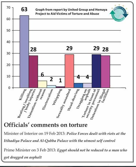 Torture Stats and Officials' Comments | Égypt-actus | Scoop.it