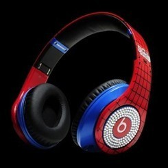 """Monster Beats By Dr Dre Studio SpiderMan Diamant pour iphone/ipad/smartphone 
