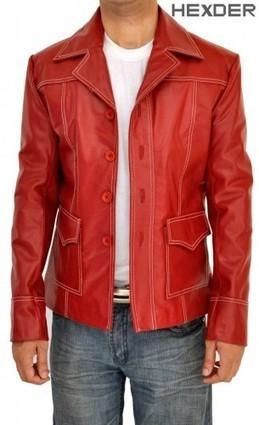 Fight Club Jacket Coat Red | Replica Leather Brad Pitt Jacket | Hexder | Scoop.it