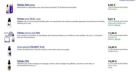 Meilleur prix pour le feliway 15 ml sur le comparateur de prix google shopping gratuit | CaniCatNews-actualité | Scoop.it