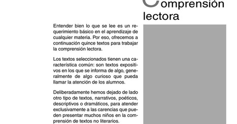 Comprensión lectora MAdrid 5.pdf | Comprensión y redacción de textos | Scoop.it