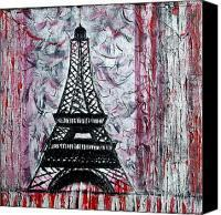 The Iron Lady Abstract Eiffel Tower Painting by Holly Anderson - The Iron Lady Abstract Eiffel Tower Fine Art Prints and Posters for Sale | flânerie | Scoop.it