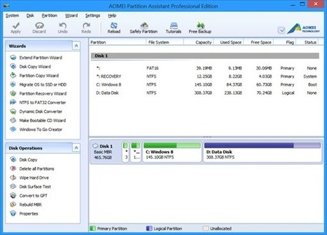 Download AOMEI Partition Assistant Professional edition free | Time to Learn | Scoop.it