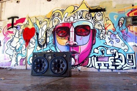 Boombox graffiti | DESARTSONNANTS - CRÉATION SONORE ET ENVIRONNEMENT - ENVIRONMENTAL SOUND ART - PAYSAGES ET ECOLOGIE SONORE | Scoop.it