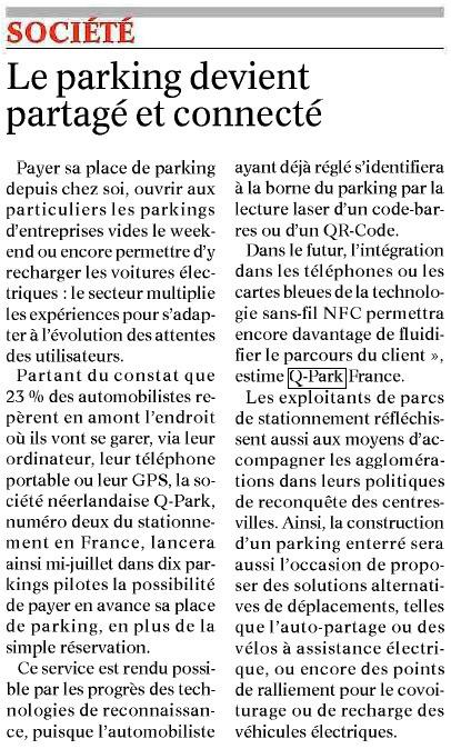 Le Bien Public   Grande enquête Q-Park Les Français et le stationnement   Scoop.it