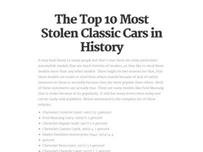 The Top 10 Most Stolen Classic Cars in History | Garry Rainsford | Scoop.it