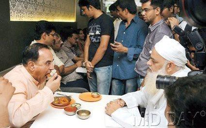 Subramanian Swamy flies down to Mumbai to eat at Aditi Restaurant | News | Scoop.it
