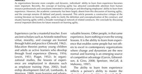 Learning agility conceptos y base teórica (pdf)   Empresa 3.0   Scoop.it