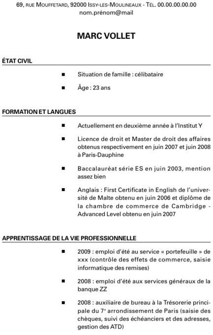 Exemple de CV et de lettre de motivation pour mettre en avant ses expériences - Letudiant.fr | Travailler en français : actualité, ressources | Scoop.it