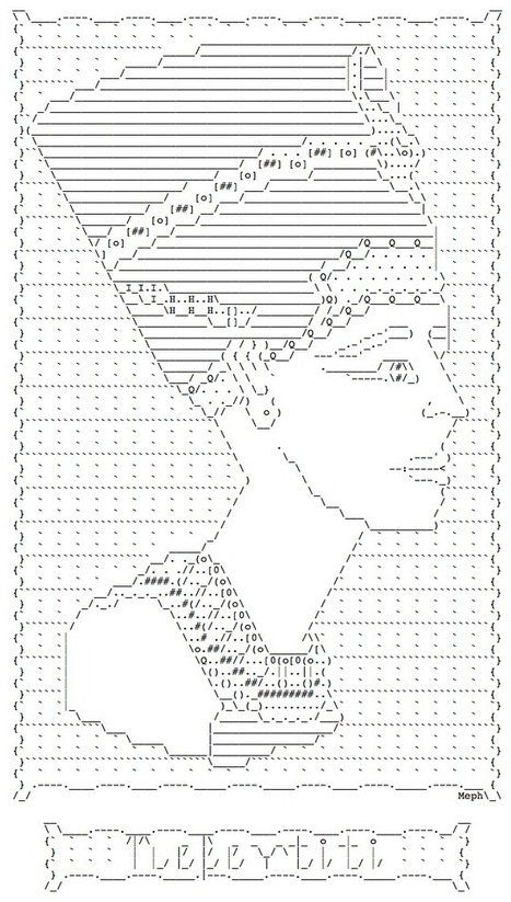 > Nefertiti No. #01 =======  by Meph | ASCII Art | Scoop.it