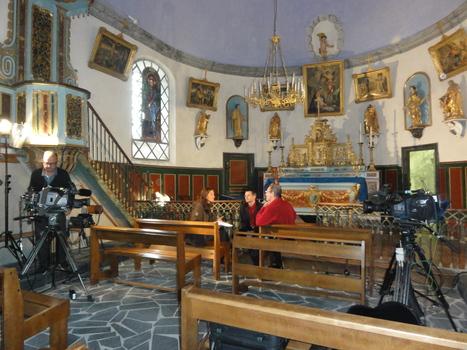 Les caméras de France 3 en l'église de Camparan | Vallée d'Aure - Pyrénées | Scoop.it