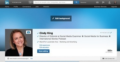 How to Use the New LinkedIn Header Image for Profiles | Social media tools and tips | Scoop.it