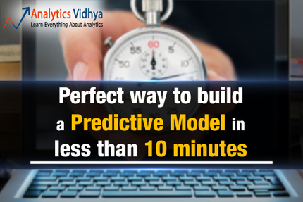Perfect way to build a Predictive Model in less than 10 minutes   Analytics   Scoop.it
