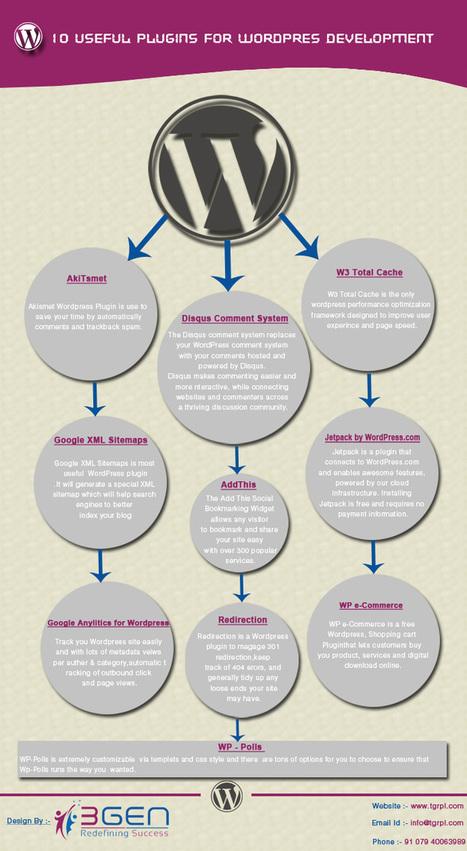 10 plugins interesantes para WordPress #infografia #infographic #socialmedia | Social Media | Scoop.it