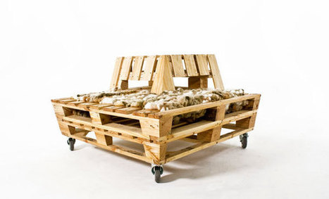Re-Stacked Pallet Lounger by John van Huenen, Andrew Wilkie, Stephanie Ward, Ursula Davy, & Hannah Hutchinson » Yanko Design | Céka décore | Scoop.it