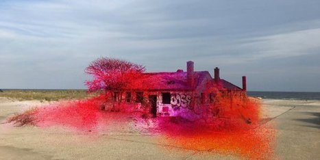 A massive splash of paint will turn hurricane-ravaged beach into art | D_sign | Scoop.it