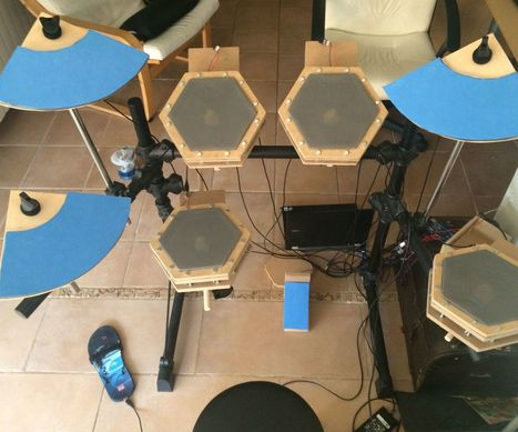 Homemade Electronic Drum kit with Arduino Mega2560 | Open Source Hardware News | Scoop.it