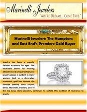 Marinelli Jewelers: The Hamptons and East End's Premiere Gold Buyer | Trading in Cash for Gold: A Guide | Scoop.it