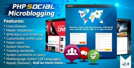 Codecanyon PHP Social Microblogging v2.4 [PAID] | Download Free Nulled Scripts | 123 | Scoop.it