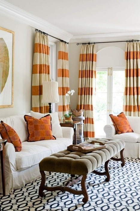 Choose beautiful curtains for living room ideas | Designinggal | interior design inspirations | Scoop.it