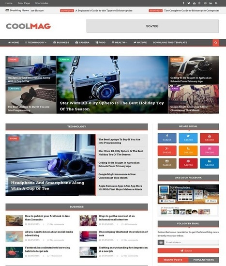 Cool Mag Responsive Blogger Template | Blogger themes | Scoop.it
