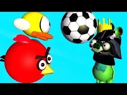 ANGRY BIRDS do SUPER BALL JUGGLING   ♫ 3D animated  FLAPPY BIRD follow up ☺ FunVideoTV - Style ;-)) | Gold Bars | Scoop.it