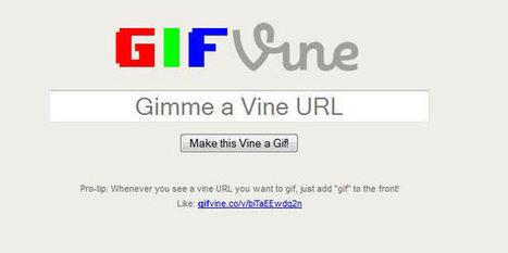 Donde ver vídeos hechos con Vine y como convertirlos a formato gif | El código Gutenberg | El código Gutenberg news | Scoop.it