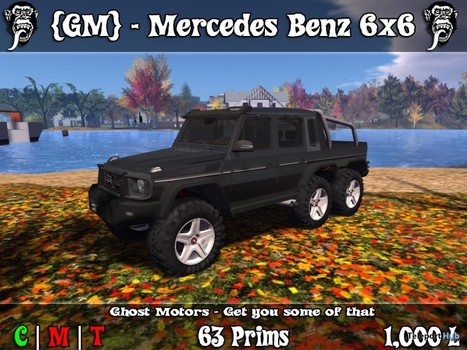 Mercedes Benz G63 AMG 6x6 Limited Time Gift by Ghost Motors | Teleport Hub - Second Life Freebies | Second Life Freebies | Scoop.it