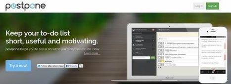 Postpone, elegante y sencillo servicio de gestión de tareas en la web | Social Media, Marketing Online, TICs | Scoop.it