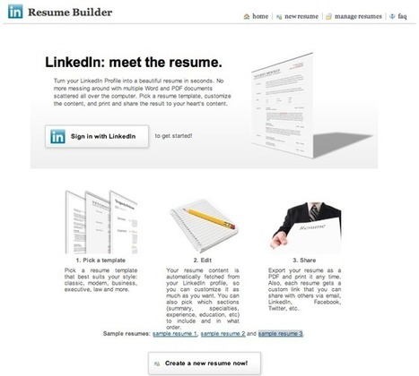 Linkedin e il CV costruito in automatico | Tecnologie: Soluzioni ICT per il Turismo | Scoop.it