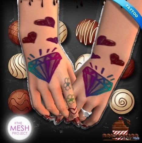 Diamond Hand Tattoo April 2016 Group Gift by Brigadeiro | Teleport Hub - Second Life Freebies | Second Life Freebies | Scoop.it