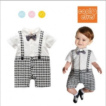 Black and White Checks Rompers for Infants with Suspenders | Online Baby Accessories | Scoop.it