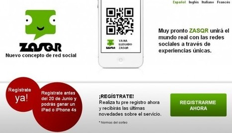 Zasqr, la nueva red social basada en la interacción con códigos QR | Teach-nology | Scoop.it