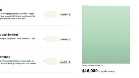 Pourriez-vous vivre avec le salaire minimum ? | Journalisme graphique | Scoop.it