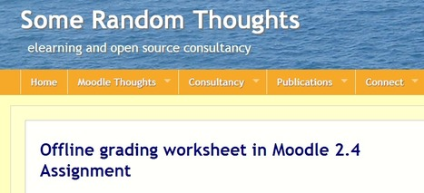 Offline grading worksheet in Moodle 2.4 Assignment | MoodleUK | Scoop.it