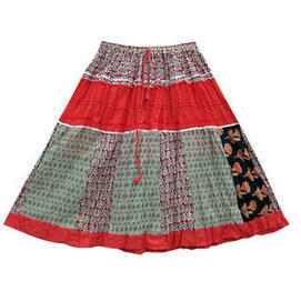 moguinterior Womens Maxi Skirt Red Multi Color Printed Patchwork Long Gypsy Skirts - Clothing - Women's - Skirts | Bohemian Harem Pant | Scoop.it