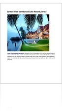 Find the Best Resorts in Kerala | hotels | Scoop.it