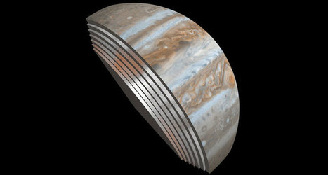 Clouds seen on Jupiter extend hundreds of kilometers down into the atmosphere | Amazing Science | Scoop.it
